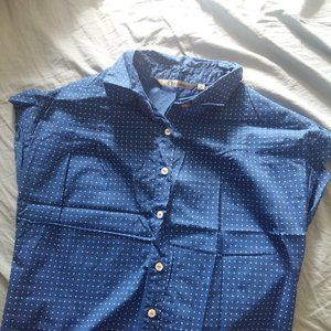 Forever New Blue Cotton Shirt. size small